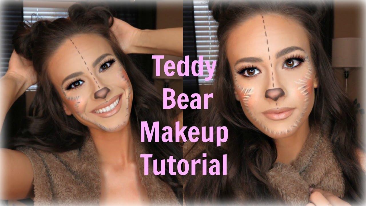 Teddy Bear Halloween Makeup Youtube