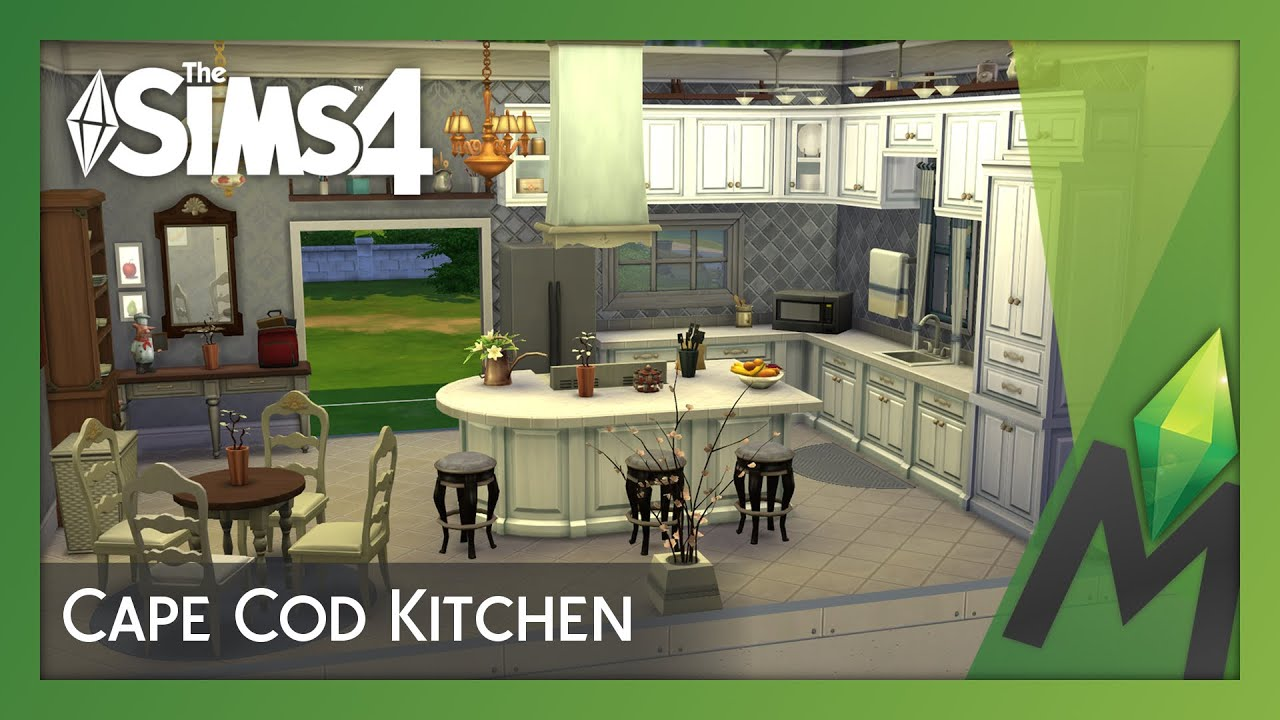 Sims Kitchen The Sims 4 Room Building Cape Cod Kitchen Youtube