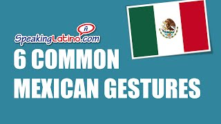 6 Common Mexican Gestures (Featuring the ZMG4U Channel)