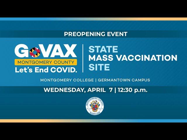 Governor Hogan Tours Mass Vaccination Site at MC