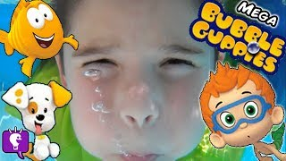 MEGA Bubble Guppies! Bubble Hut Surprises + Bubbles Slide Pool Sharks HobbyKidsTV