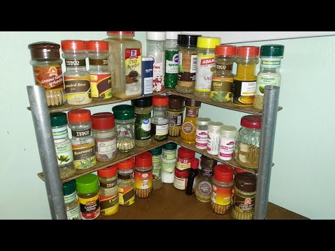 How to make a diy Spice Rack! ( Super easy Spice Organizer for Kitchens )