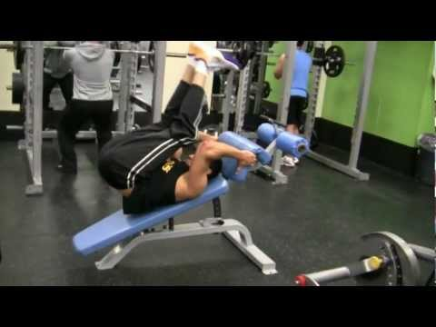 ABS- Lower ABS using decline bench