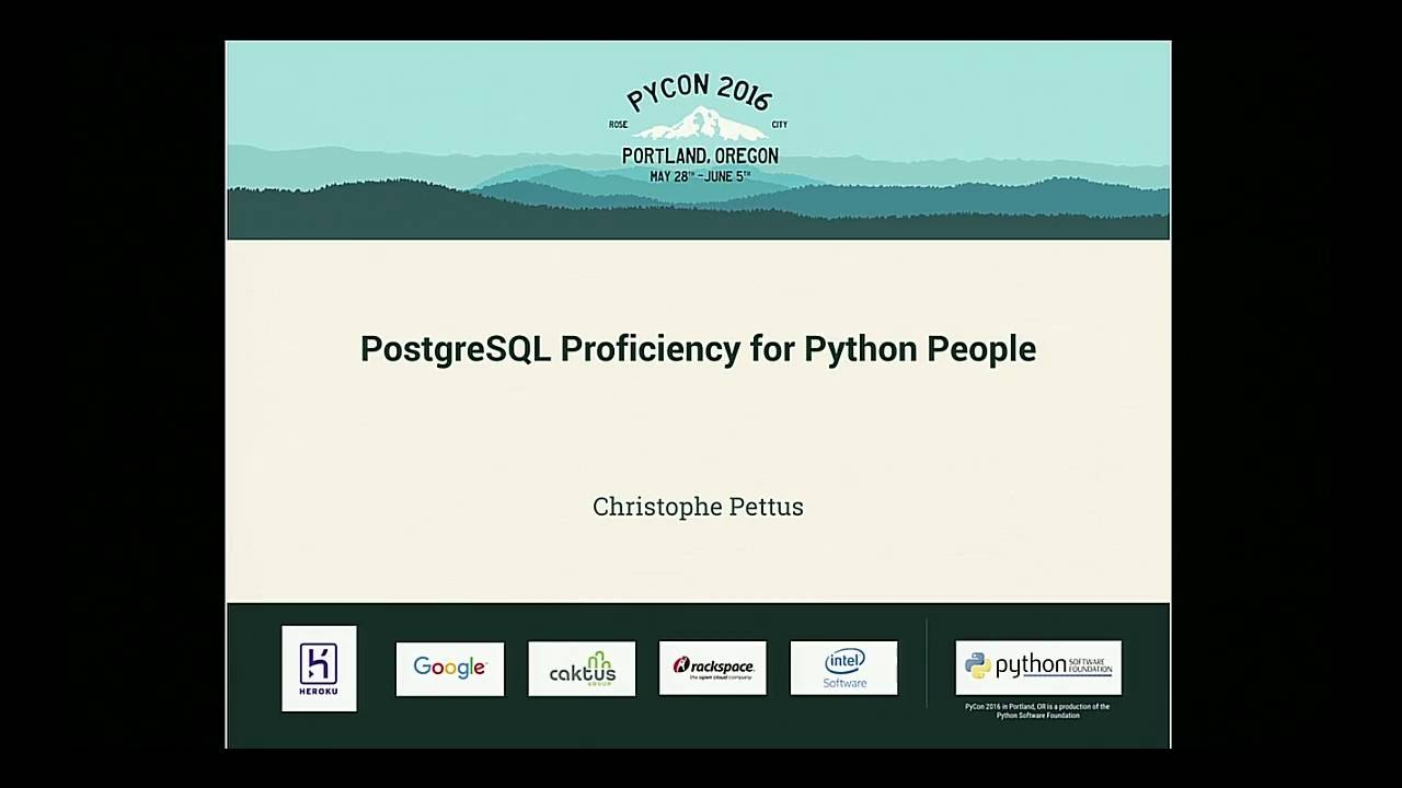 Image from PostgreSQL Proficiency for Python People