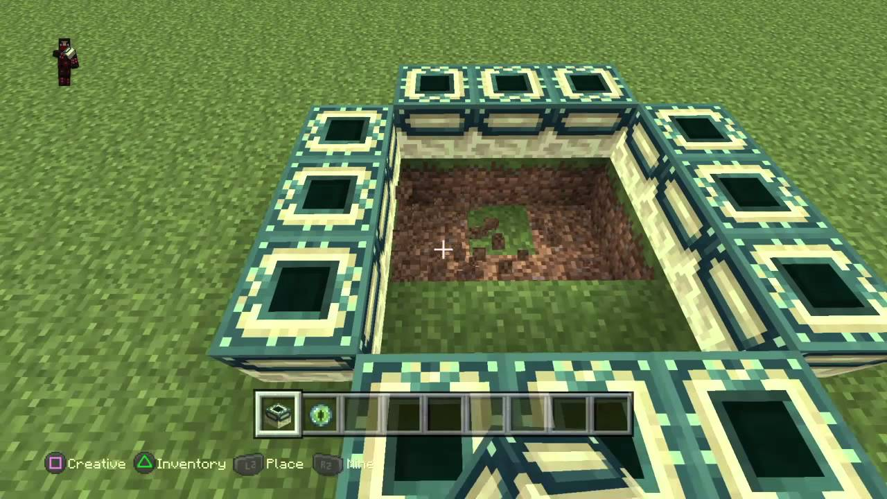 Minecraft ps4 how to build the end portal frame youtube minecraft ps4 how to build the end portal frame sciox Image collections