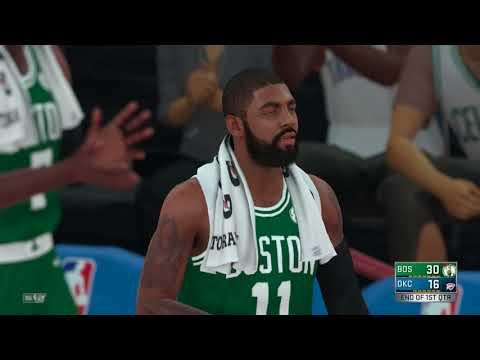 NBA 2K18 Boston Celtics vs Oklahoma city Thunder