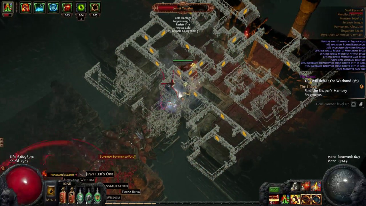 Earthquake Poe Build
