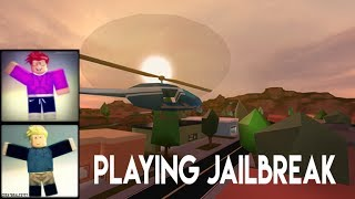ROBLOX Playing JailBreak Ft.Lukie (Funny Moments)