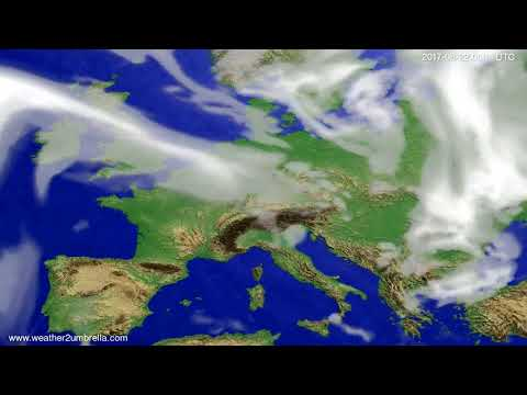 Cloud forecast Europe 2017-08-18