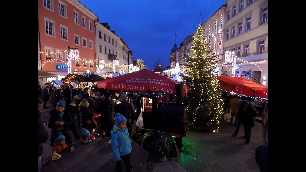 Weihnachtsmarkt Konstanz Bei Der Dammerung
