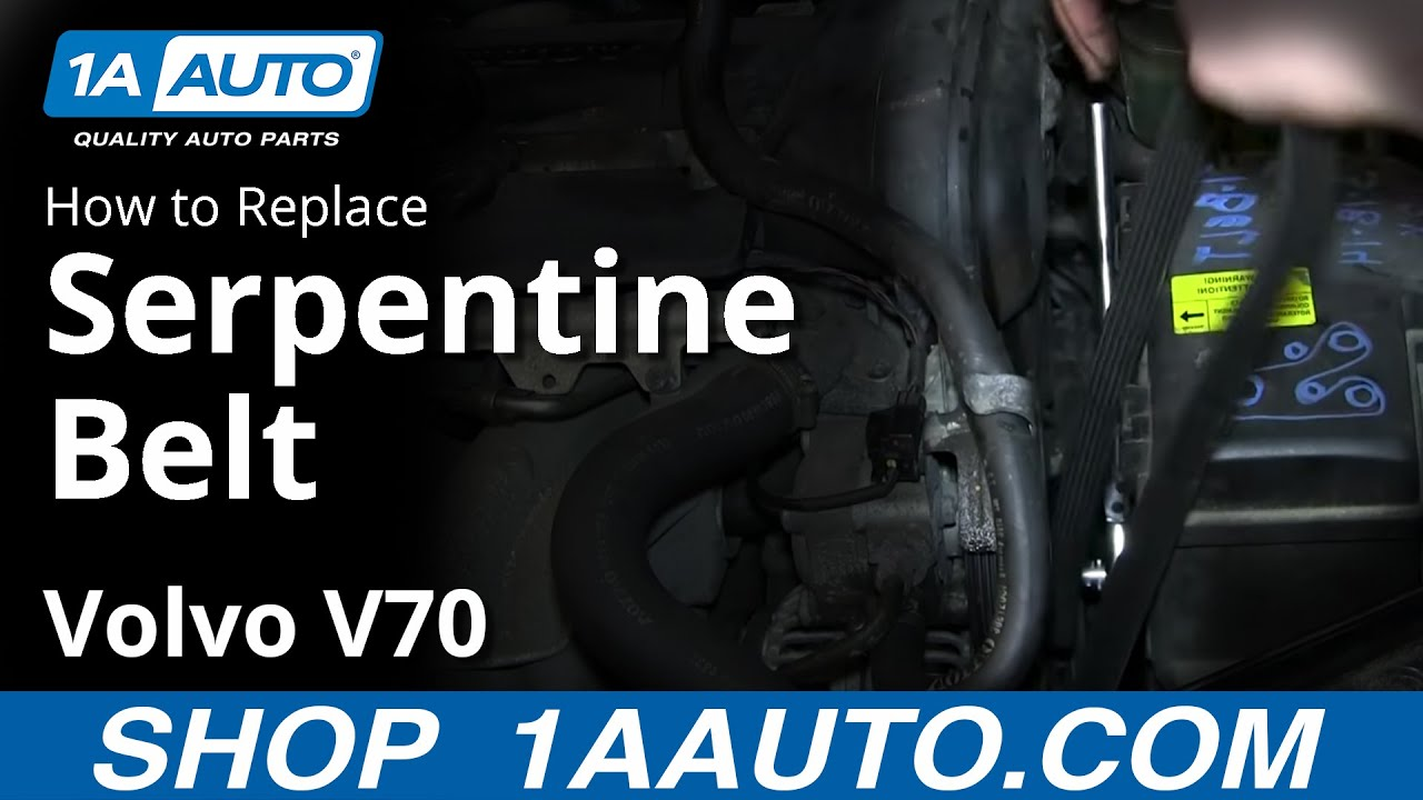 how to install replace engine serpentine belt volvo v70 wagon youtube rh youtube com 2006 Volvo S60 Engine Diagram 2006 Volvo S60 Engine Diagram