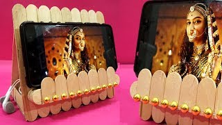 Easy Ice Cream Stick Mobile Stand Making   DIY Popsicle Craft Ideas   Easy Crafts