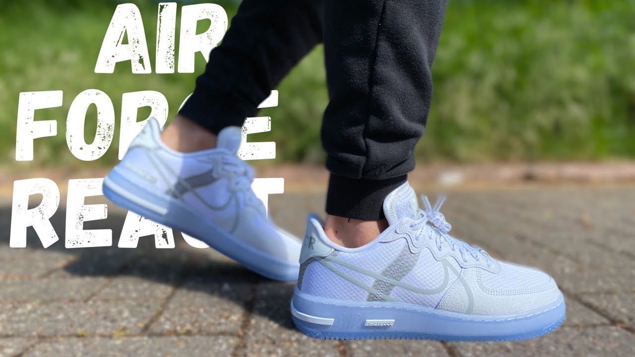 AIR FORCE 1 REACT QS WHITE ICE REVIEW | CLASSIC STYLE, NEW COMFORT