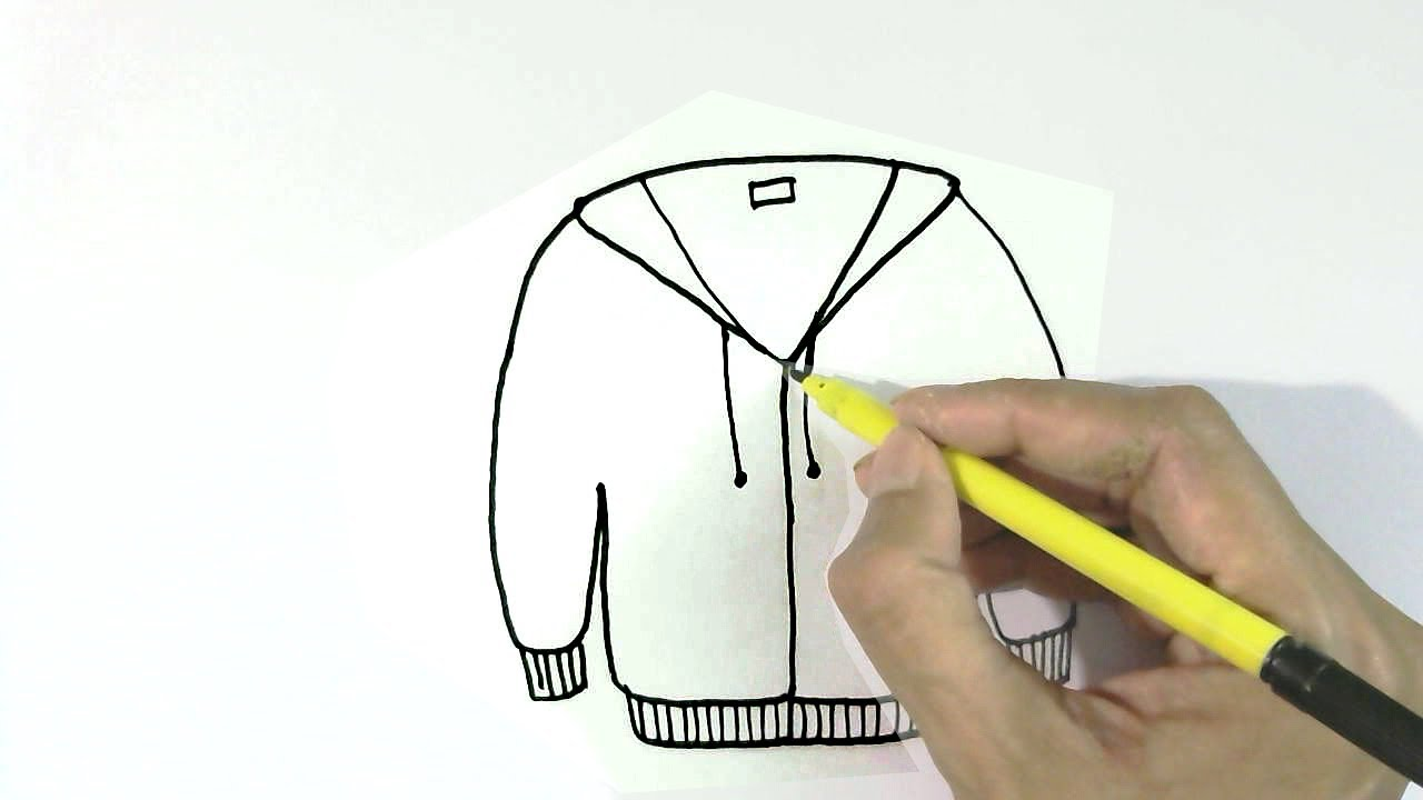 How To Draw Jacket Or Sweater In Easy Steps For Children Kids