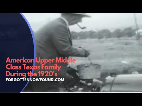 Found 8mm Home Movie Film 1920's American Upper Middle Class Texas Family
