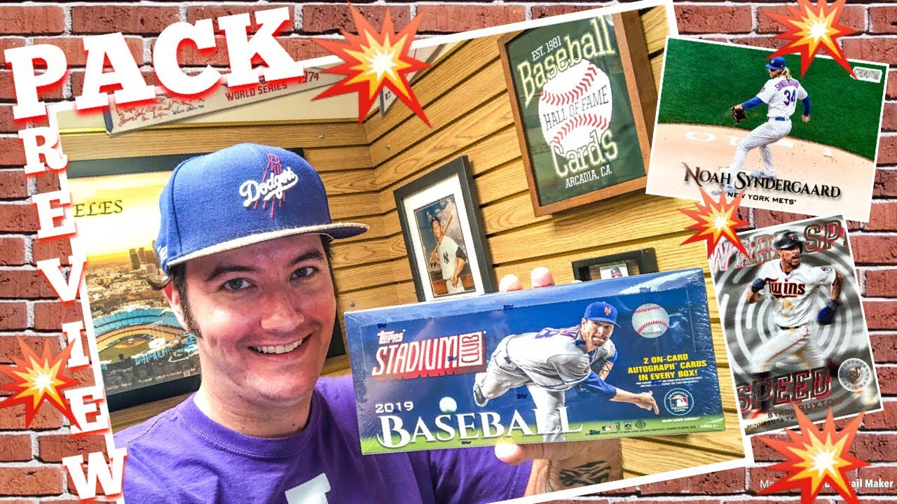 Pack Preview 2019 Topps Stadium Club Baseball Cards
