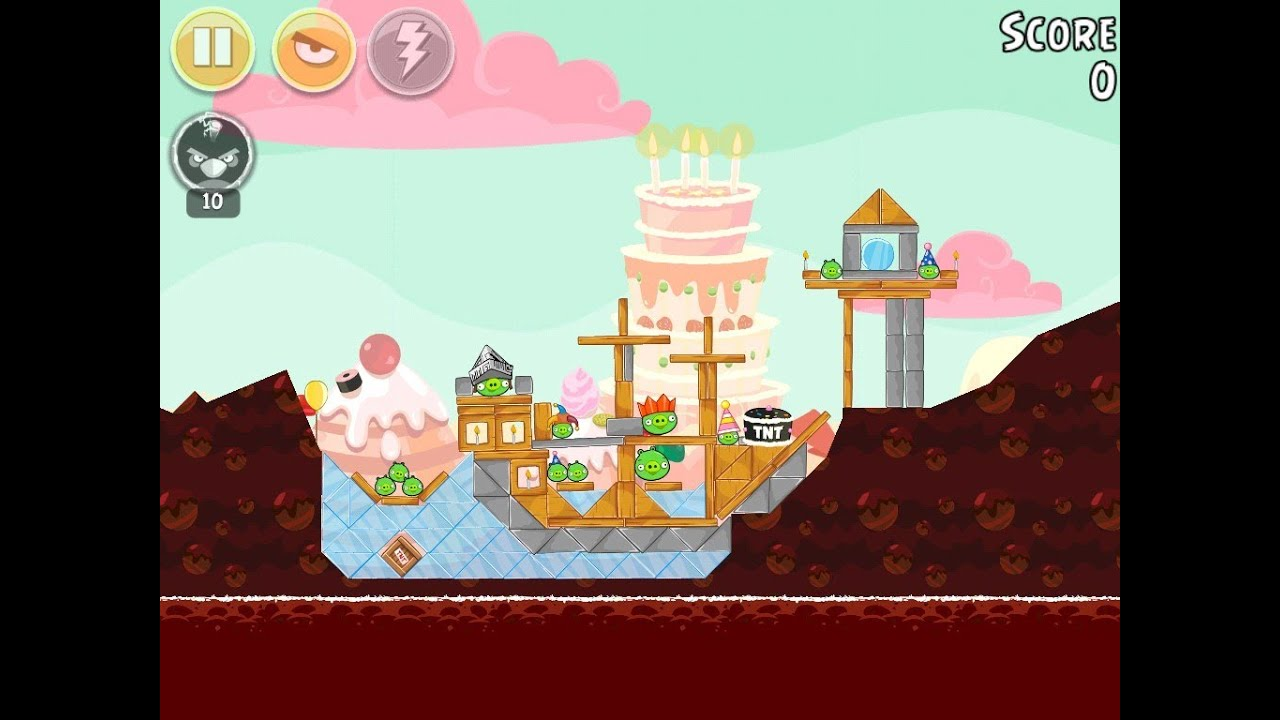 Angry Birds Birdday Party Cake 4 Level 12 Walkthrough 3