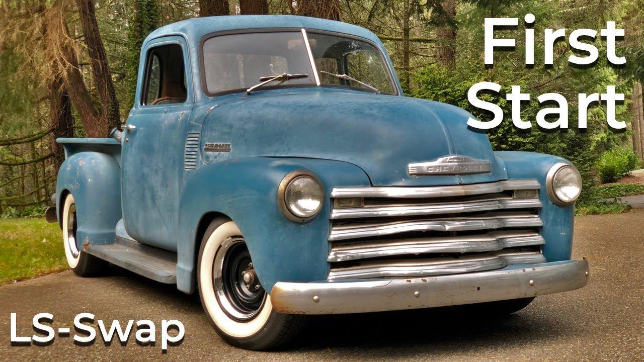 1953 Chevy Truck LS 6.0 First Start - YouTube