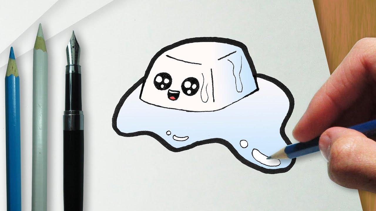 Como Desenhar Um Cubo De Gelo Kawaii Fofo By Loblogue