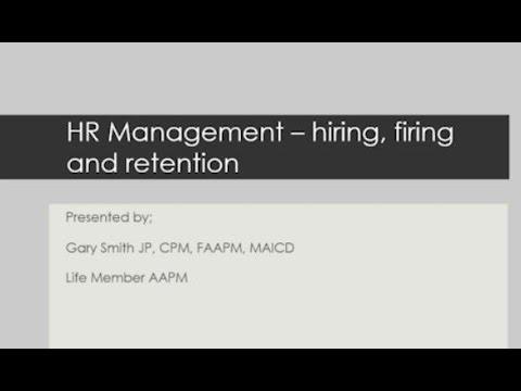 Webinar: Human Resource Management - Hiring, Firing and Retention