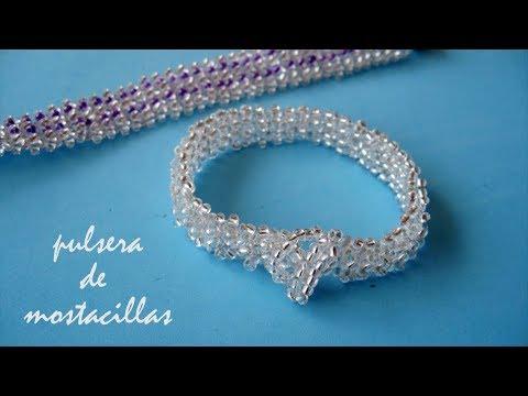 137060de8aeb Смотреть видео DIY - Pulsera elegante y económica de mostacillas - Elegant  and economical bracelet of mostacillas онлайн