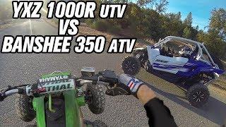 Yamaha YXZ 1000R UTV VS Yamaha Banshee 350 ATV