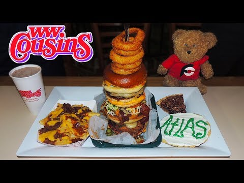 Maximum Capacity Burger Challenge At WW Cousins Louisville, Kentucky!!