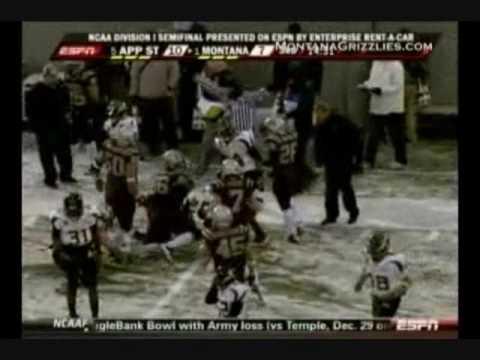 University of Montana vs Appalachian State Highlights 2009