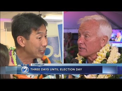Honolulu mayoral candidates pound the pavement in final days of campaign