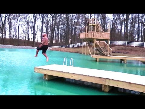 Download Youtube: JUMPING INTO ICE WATER!! ouch!!