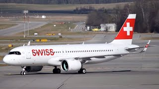 First Swiss Airbus A320neo Delivery at Zurich Airport