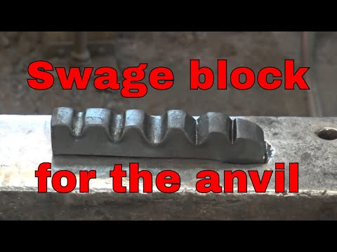Forging a swage block for the anvil - blacksmithing tools