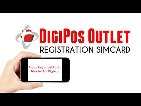 Cara Registrasi Simcard Via Aplikasi Digipos Outlet Youtube