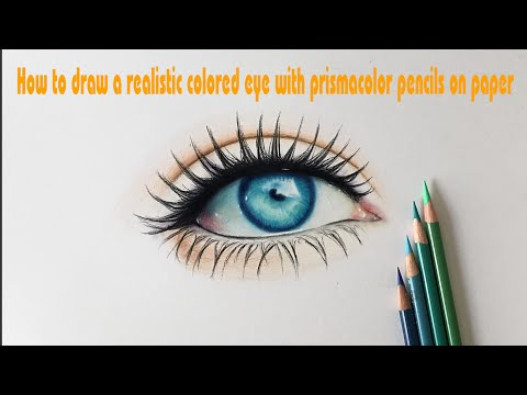 How to draw a realistic colored eye with prismacolor pencils on how to draw a realistic colored eye with prismacolor pencils on paper tutorial drawing 3d ccuart Gallery