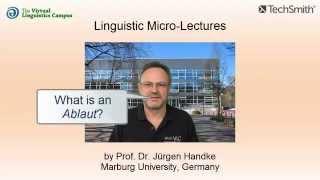 Linguistic Micro-Lectures: Ablaut