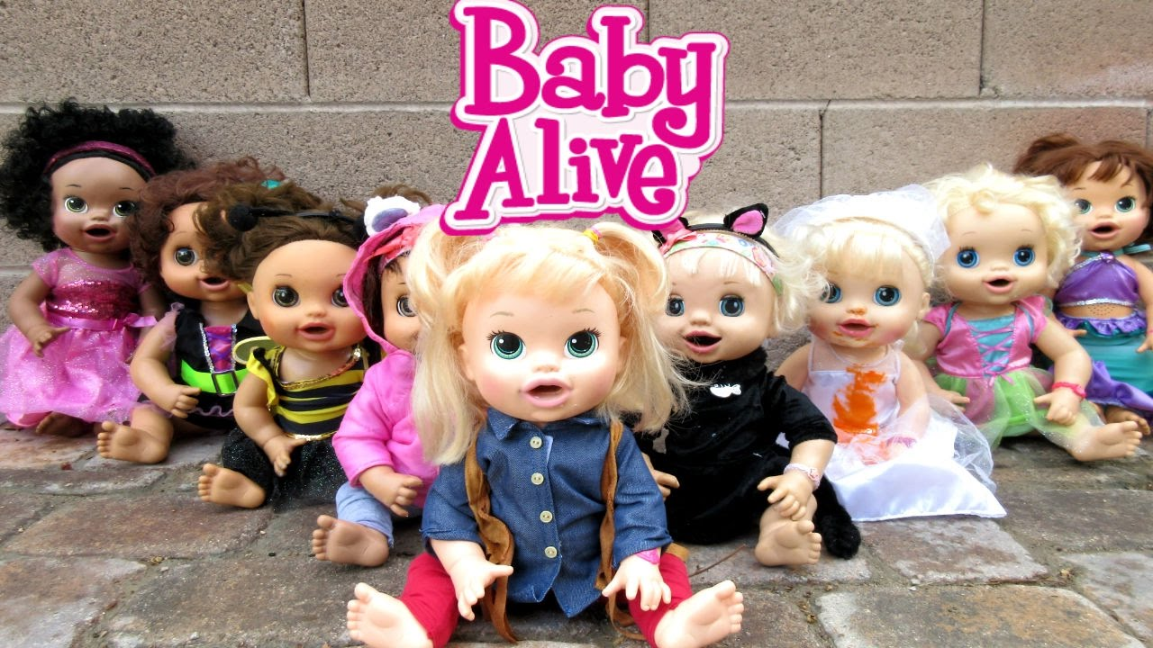 BABY ALIVE Dolls Dress Up In Halloween Costumes & Eat Halloween ...