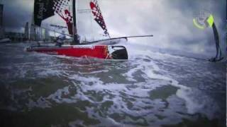Extreme Catamaran Sailing at Round Texel Race 2011