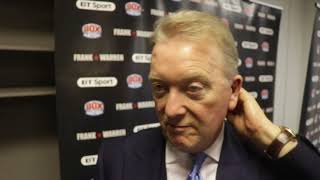 FRANK WARREN REACTS TO WINS FROM CARL FRAMPTON, PADDY BARNES, TETE & HEARTBREAK FOR JAMIE CONLAN