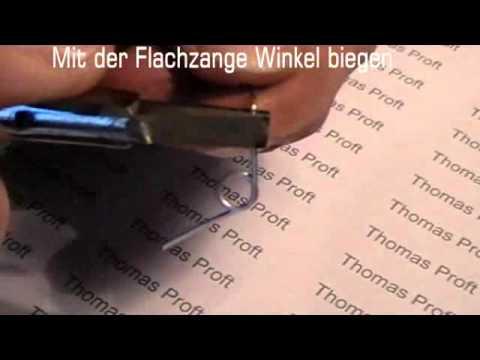 Goldschmieden lernen - 14 Biegen von dünnem Draht - YouTube