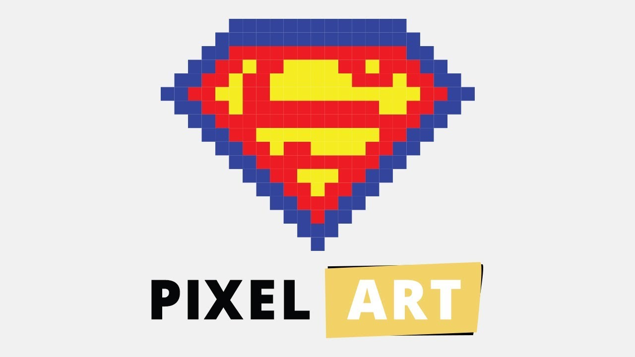 Illustrator Minecraft Pixel Art Superman Logo Youtube