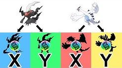 Mega Darkrai X, Y ; Mega Lugia X, Y - Future Pokemon Mega Evolutions 2018.