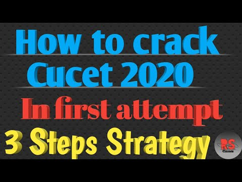 How to crack cucet in first attempt|| Preparation Tips || CUCET2020|| RS Classes