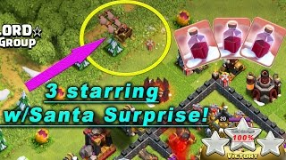 Clash of Clans || 3 STARRING WITH SANTA SURPRISE!?!