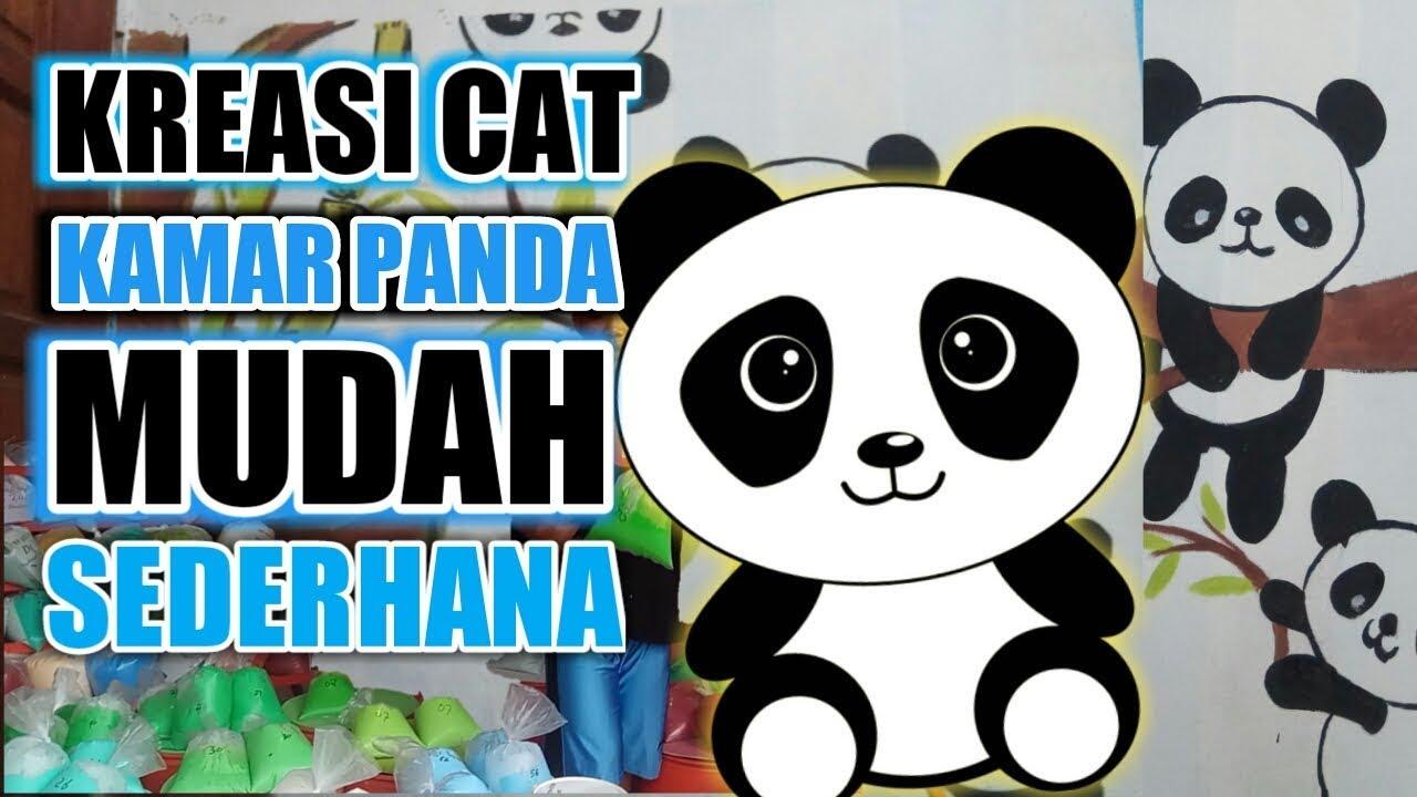 Membuat Kamar Motif Panda Simpel Dan Sederhana Kreasi Cat Kamar Di Dinding Youtube