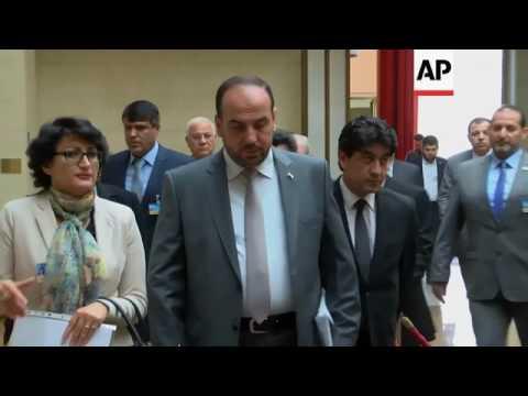 Syrian opposition meets De Mistura in Geneva