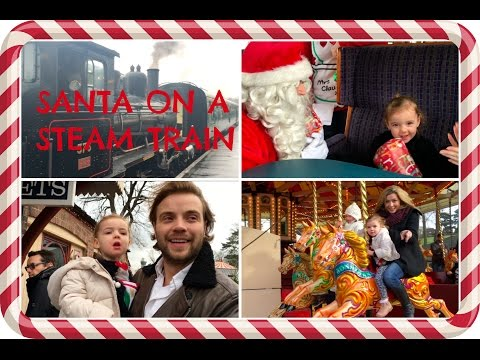 SANTA ON A STEAM TRAIN: Our family day at Tenterden