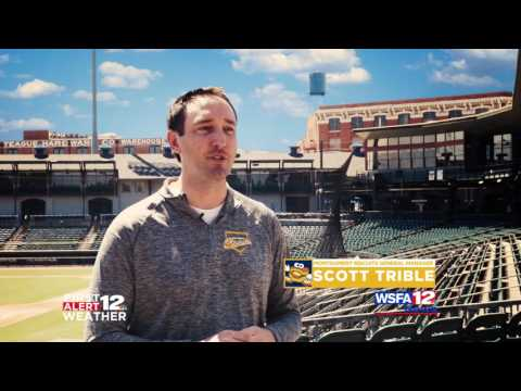 MONTGOMERY BISCUITS SCOTT TRIBLE WSFA FIRST ALERT WEATHER TESTIMONIAL