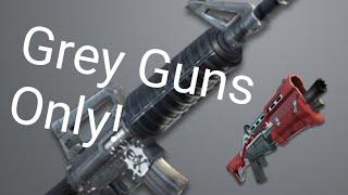 Grey Guns Only challenge on fortnite battle royale