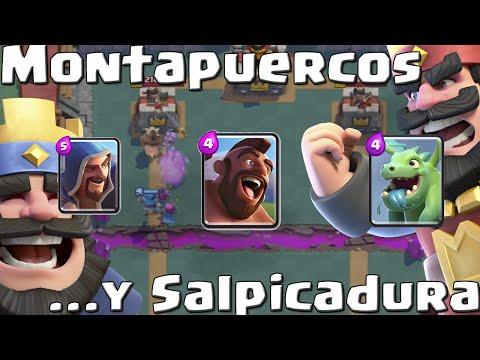 MONTAPUERCOS CON SALPICADURA | Mazos variados | Arenas 4 y 5 | Clash Royale con TheAlvaro845 | Esp