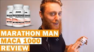 Marathon Man Maca 1000 Review - Maca Root Male Enhancement Pills For Men